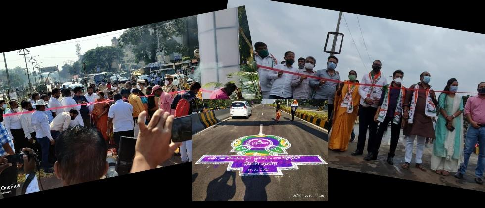 PCMC Bridge Inaguration done Twice by Two Political Parties