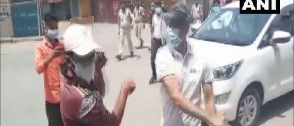 chhattisgarh ias officer slaps youth for violating covid norms