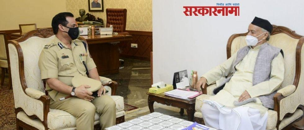 newly appointed mumbai police commissioner hemant nagrale meet governor