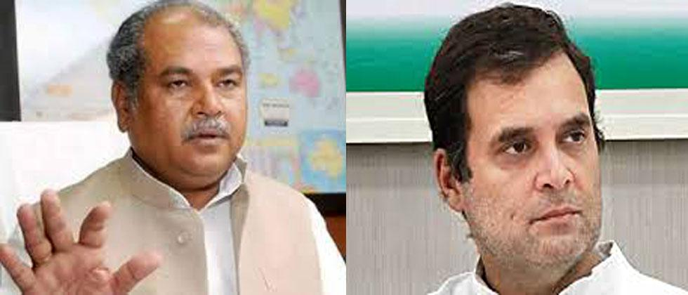 No one cares about Rahul Gandhi Says Minister Narendra Tomar