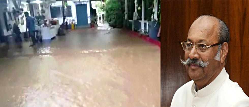Water seeped into MP Srinivas Patil's house due to encroachment