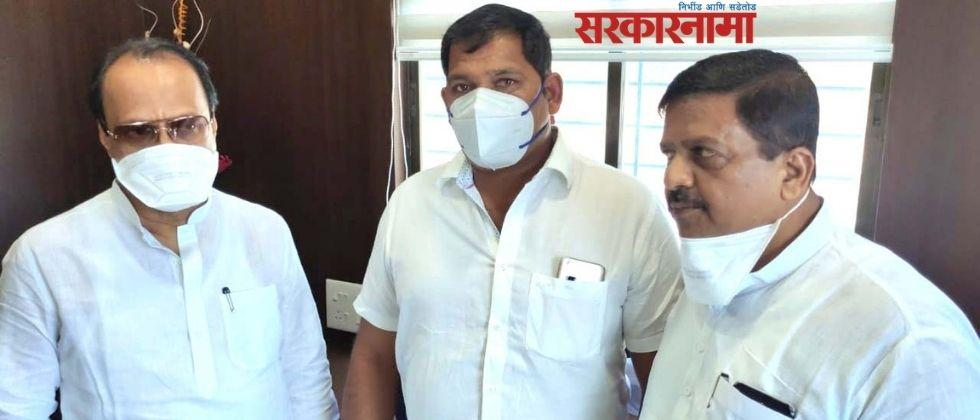 Former MP Shivajirao Adhalrao Patil's supporter joins NCP :