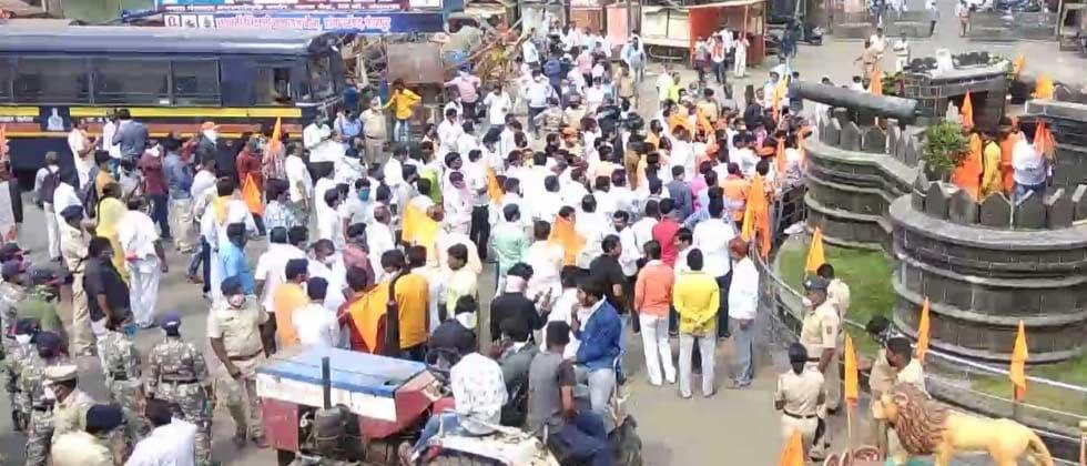 Maratha agitation in Pandharpur was crushed by the police