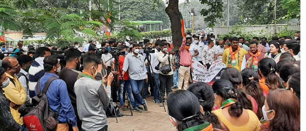 Chandrakant Patil criticizes Thackeray government for increasing atrocities against women