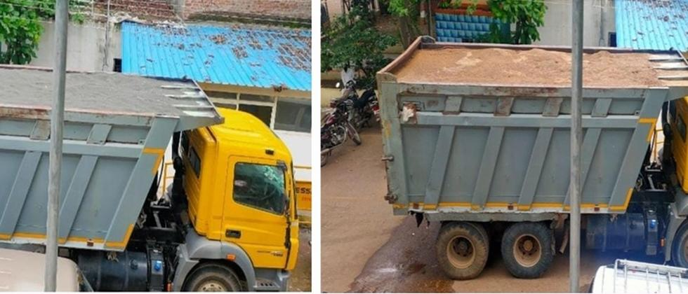 Sand in Truck replaced by Crushsand in Shikrapur Police Station