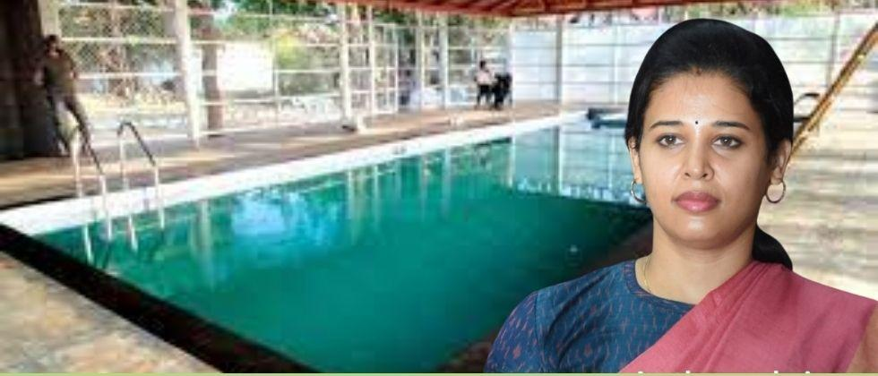District Magistrate built a swimming pool at the government residence