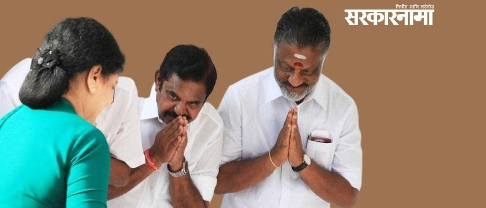 paneerselvam son tweeted for speedy recovery of v k sasikala