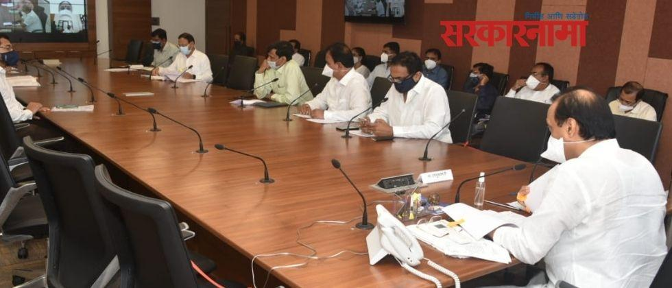 Deputy Chief Minister Ajit Pawar held a meeting at the Ministry regarding the water issue of Solapur city :