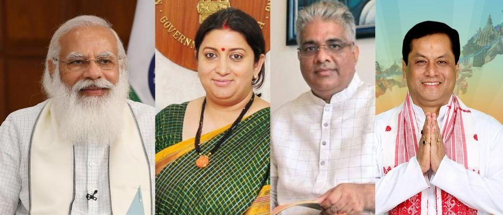 smriti irani bhupender yadav and sarbanand sonowal appointed in key cabinet committee