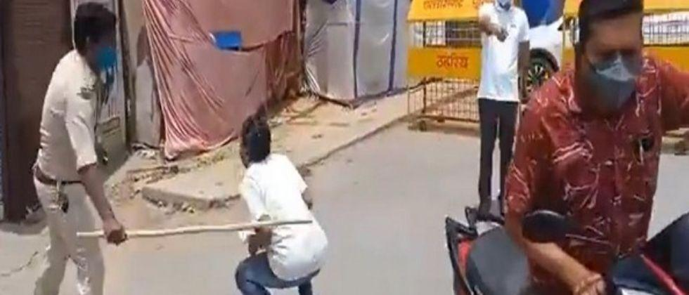 surajpur collector sdm and police officer assult peoples for violating lockdown