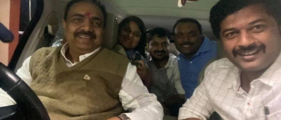 Anjayant Patil takes the steering wheel in the middle of the night .jpg