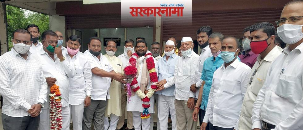 Chandrajit Waghmare of NCP as the Deputy president of Wadgaon