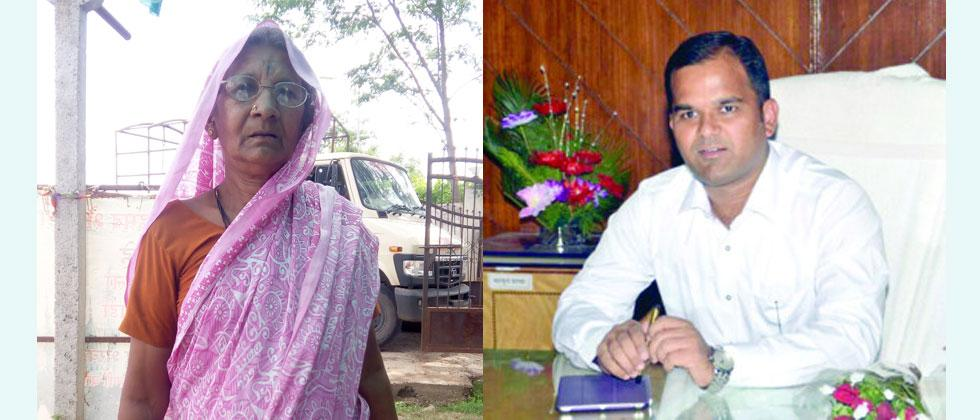 collector J shrikant with a woman