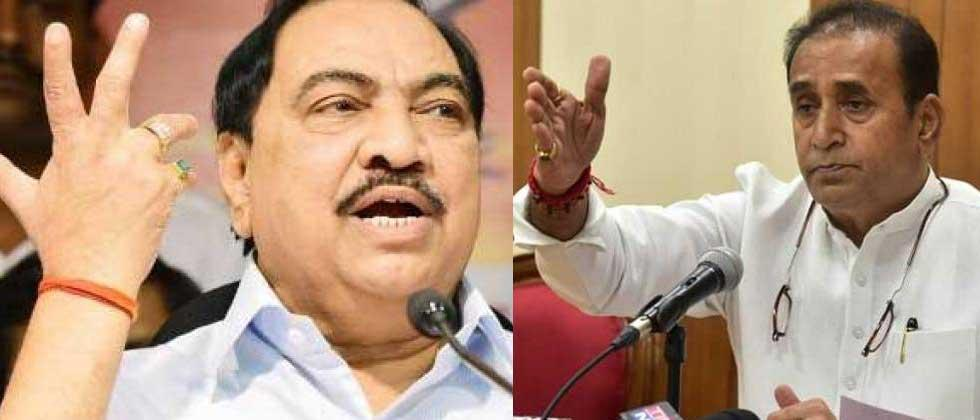Khadse, who avoided meeting Devendra Fadnavis, met Home Minister Deshmukh