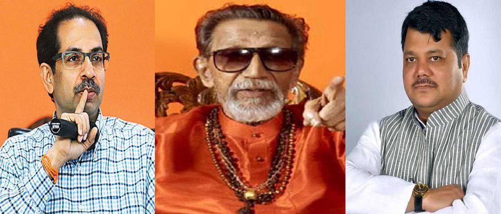 CM Uddhav Thackeray, Late Balasaheb Thackeray and Pravin Darekar