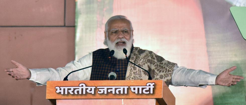 vocal for local modi government relies on global aid for covid pandemic
