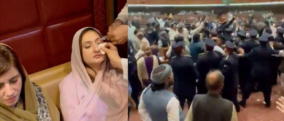 Chaos breaks out in pakistan assembly over budget