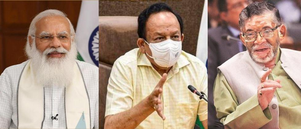 due to covid crisis harsh vardhan and santosh kumar gangwar resign from cabinet