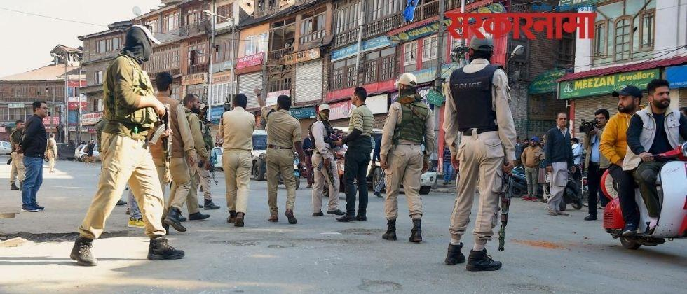 two bjp workers their psos held for faking militant attack in Jammu and Kashmir  .jpg