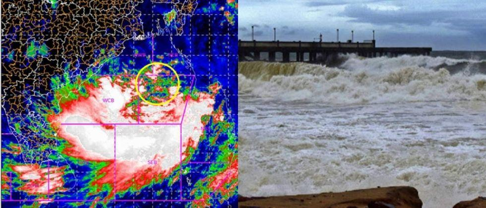 Yaas Cyclone Low pressure area intensify into a cyclonic storm