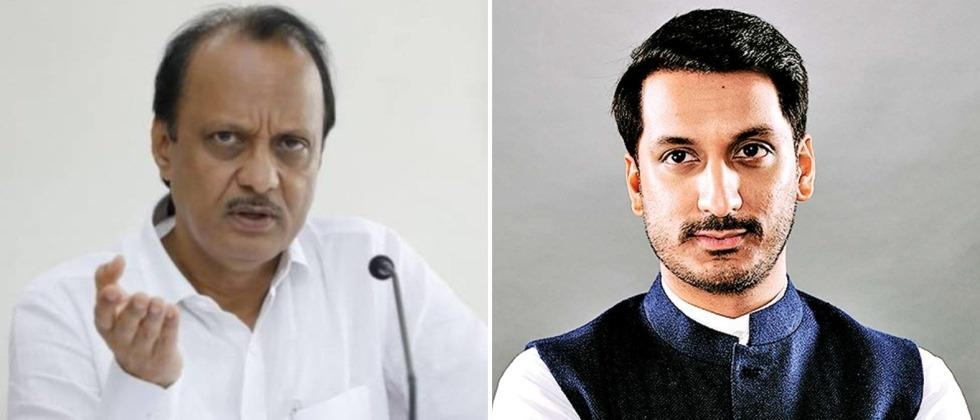 Parth arrives in Pune with Deputy Chief Minister Ajit Pawar