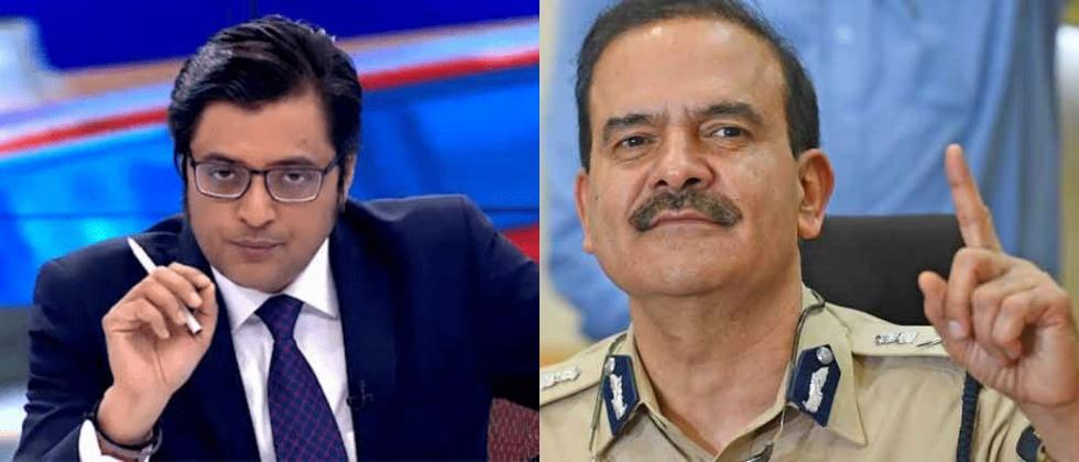 arnab goswami demands public apology of mumbai police commissioner