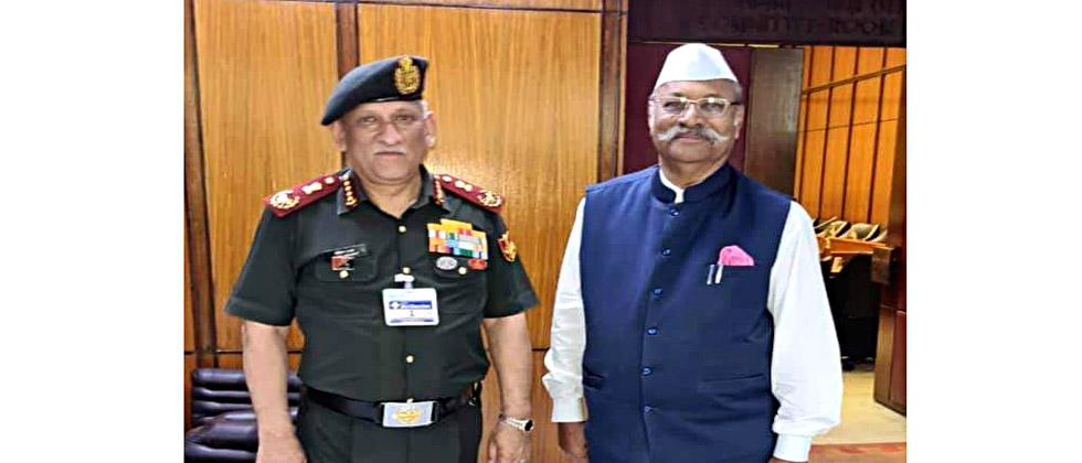 Raise the age limit for military recruitment as a matter of urgency; Srinivas Patil's demand to General Bipin Rawat