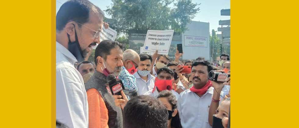 BJP Pimpri-Chinchwad's Deputy Mayor also joins the agitation against Modi government
