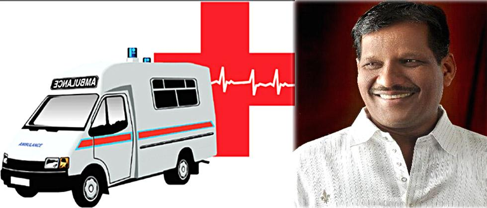 MLA  Laxmanrao Jagtap was angry at the private ambulance driver