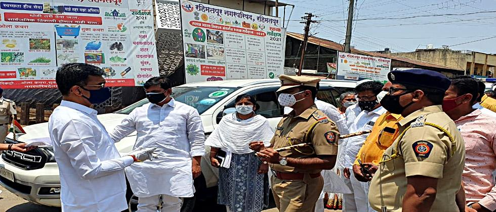 Minister of State for Home Affairs Shambhuraj Desai took to the streets to inspect the law and order situation