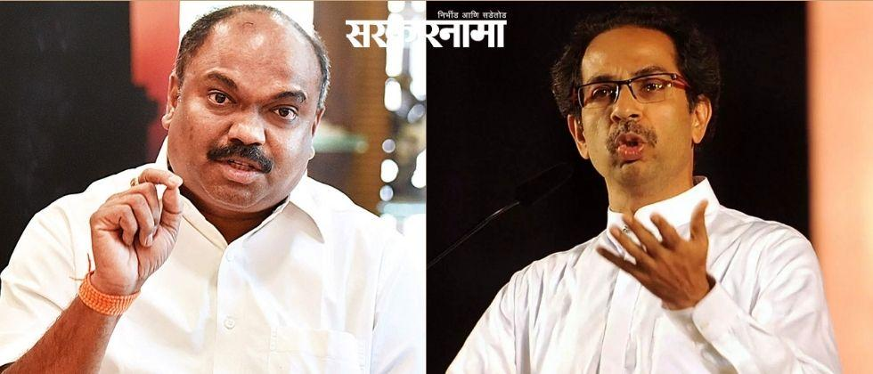 Shivsena leader adv Anil Parab is not seen defending the government