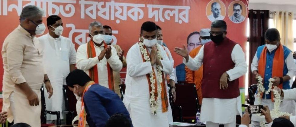 bjp appoints suvendu adhikari as a leader of opposition in west bengal