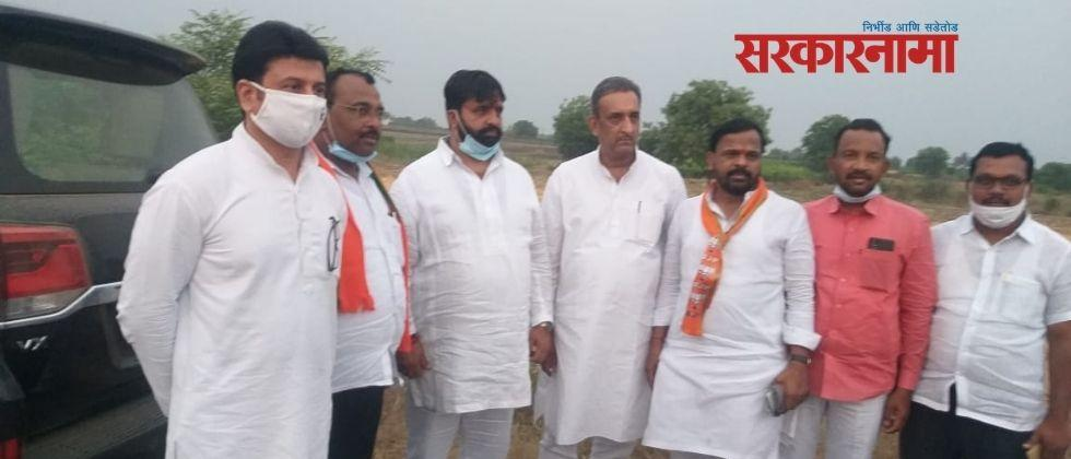 Bhosari MLA Mahesh Landage's campaign for BJP candidate Avtade in Pandharpur by-election