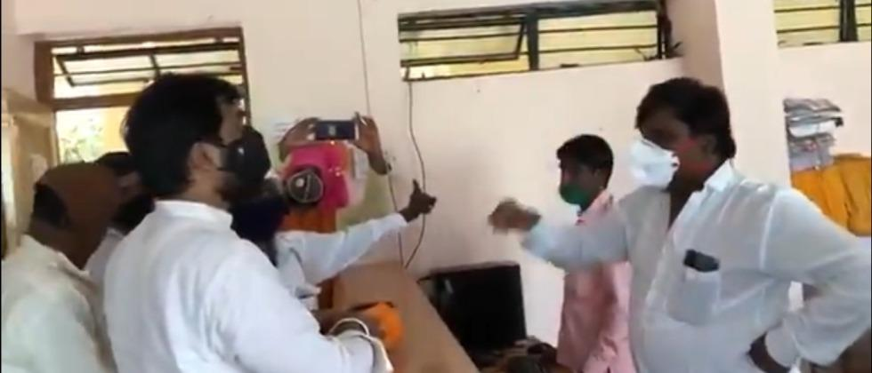 MLA Ram Satpute gets rations to senior citizens who have been deprived for 20 years