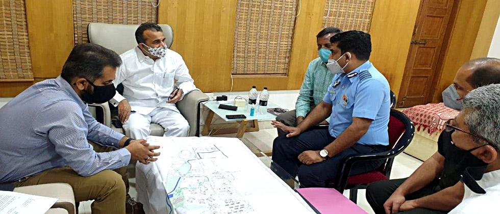 Guardian Minister inspects Sainik School, suggests to speed up development works