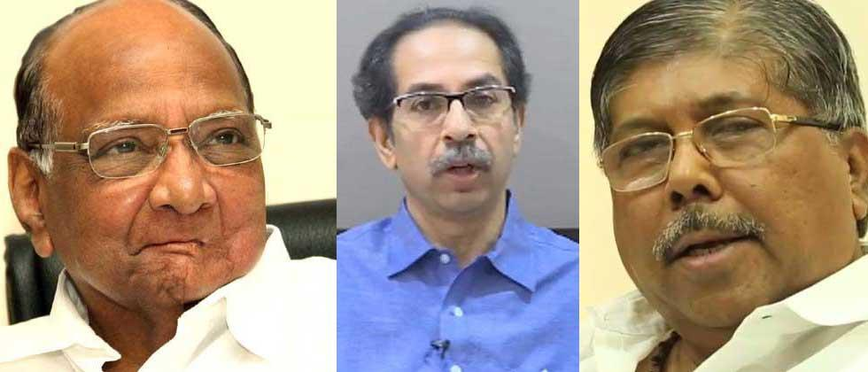 Chandrakant Patil praised Sharad Pawar, while Uddhav Thackeray was taunted