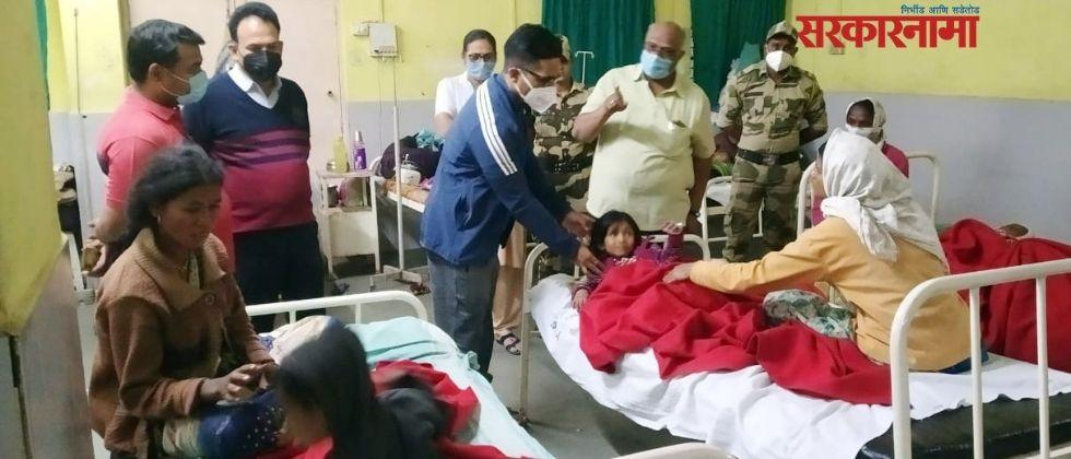 doctor, aasha and another health care worker face action in sanitizer dose to children
