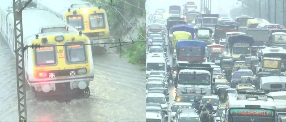 Monsoon has arrived in Mumbai today Severe waterlogging