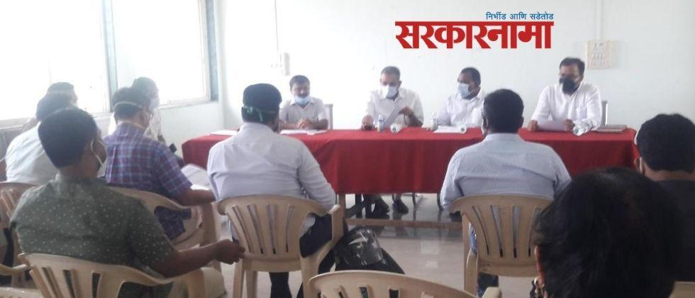 MLA Prashant Paricharak attended the administrative meeting at Mangalvedha after five and a half years