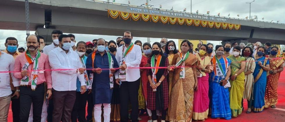 The inauguration of the bridge has sparked the ruling BJP and NCP