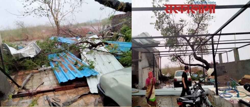 Three people have lost their lives due to Tauktae Cyclone in Gujrat