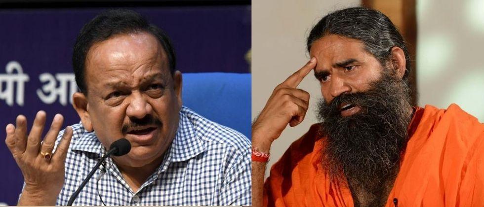 Health Minister HarshVardhan tells Ramdev Baba Withdraw remarks about Allopathy