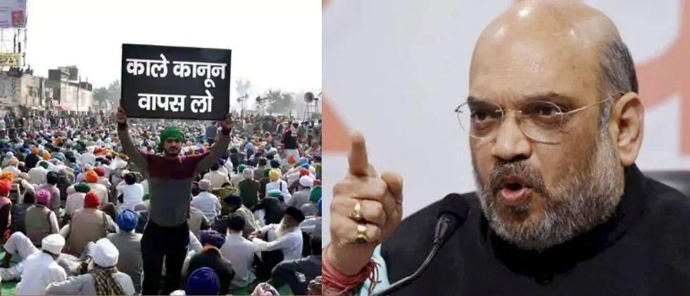 HM Amit Shaha in Active Mode against farmers protest