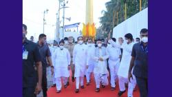 Maharashtra Governor Bhagatsinh Koshyare and Cm Uddhav Thackeray Arriving at Chaityabhoomi