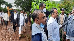 Walking in the mud, the Guardian Minister, Minister of State for Home Affairs reached Ambeghar; Will get all possible help from the government