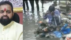 Shiv Sena MLA Dilip Lande asks workers to dump garbage on contractor