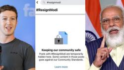 Facebook blocked posts tagged #ResignModi amid covid crisis