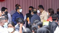 chief minister uddhav thackeray meets flood affected peoples