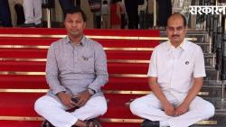 Bjp Two Mla Fast Protest In Front Of Vidhan Bhavan News