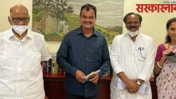 Minister of State Bharane, District Bank Chairman Thorat meet to Sharad Pawar in Delhi